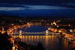 Budapest nachts Stockbilder