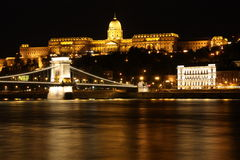 Budapest nachts Lizenzfreies Stockbild