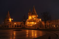 Budapest - Nachtszene Lizenzfreie Stockfotos