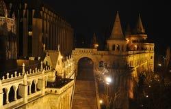 Budapest - Nachtszene Stockfotos