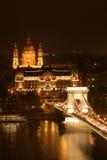 budapest natt Royaltyfri Fotografi