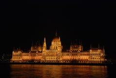 budapest natt Royaltyfria Bilder