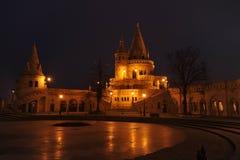 Budapest - nattplats Royaltyfria Foton