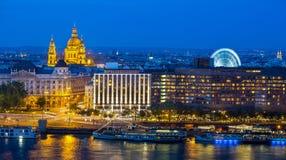 Budapest nattplats - Ungern Royaltyfri Fotografi