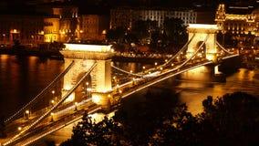 Budapest nattsikt Royaltyfri Bild
