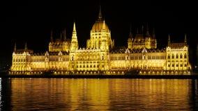 budapest nattsikt Arkivfoto