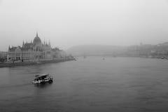 Budapest nebbiosa Fotografie Stock