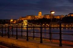 Budapest nel nifht Fotografia Stock Libera da Diritti