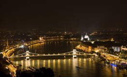 Budapest in the night Royalty Free Stock Photography