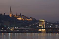 Budapest at night Royalty Free Stock Photo