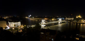 Budapest at night. Cityscape skyline in Budapest at night Royalty Free Stock Photos