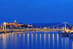 Budapest by night royalty free stock images