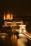 Budapest by night Royalty Free Stock Photography