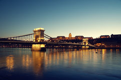 Budapest at night Stock Image