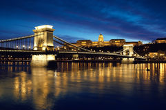 Budapest at night royalty free stock images
