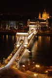 Budapest by night. Image of budapest chain bridge by night Royalty Free Stock Image