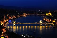 Budapest by night Royalty Free Stock Image