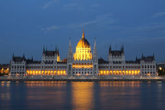 Budapest in night Stock Image