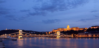 Budapest in night Stock Photography