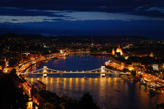 Budapest at night Stock Images
