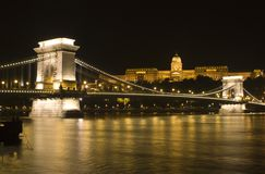 Budapest in night Stock Photos