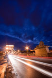 Budapest by night / Chain Bridge Royalty Free Stock Photography
