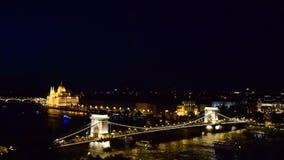 Budapest at night stock footage