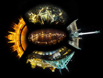 Budapest night collage Stock Images