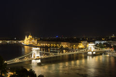 Budapest At Night, Hungary Royalty Free Stock Photography