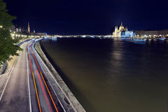Budapest Night life Royalty Free Stock Photos