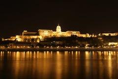 Budapest Castle Palace Budavari night Royalty Free Stock Image