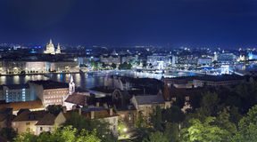 Budapest night panorama Stock Images
