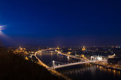 Budapest night panorama Royalty Free Stock Photography