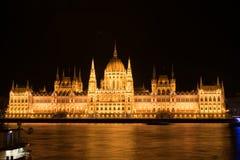 budapest night parliament Στοκ Φωτογραφίες