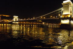 Budapest at night photo, the beauty of the magnificent city Stock Photography