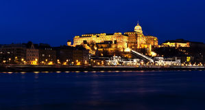 Budapest at night time Stock Image