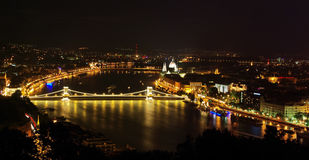 Budapest night view Royalty Free Stock Photography