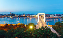 Budapest night view Stock Photos
