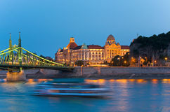 Budapest night view Royalty Free Stock Photos