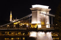 Budapest by night. A view of Budapest by night royalty free stock image