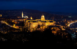 Budapest at night. Night view of the center of Budapest Stock Photo