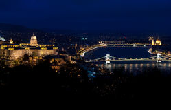 Budapest at night. Night view of the center of Budapest Stock Photos