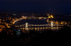 Budapest at night. Night view of the center of Budapest Stock Images