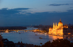 Budapest - night view Royalty Free Stock Photo