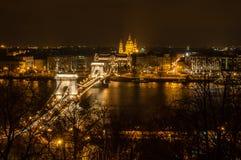 Budapest am nigt Stockfotos
