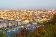 Budapest no por do sol Fotografia de Stock Royalty Free