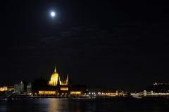 budapest noc panorama Obraz Stock