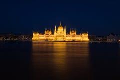 budapest noc parlament Zdjęcia Royalty Free