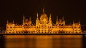 budapest noc parlament Zdjęcia Stock