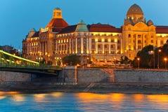 Budapest noc widok Obrazy Royalty Free